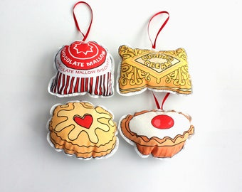 British biscuits Christmas ornaments: Cookies tree decorations-United Kingdom