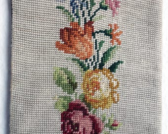1  Handworked Wool Tapestry Butler Pull  Antique Tapestry Antique Embroidery Needlepoint Tapestry