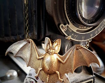 Vintage Pocket watch pendant - Batsh*t crazy - Steampunk Inspired Timeless Relic
