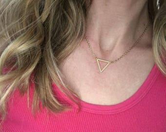 Triangle Dainty Necklace - Gold Minimalist Necklace