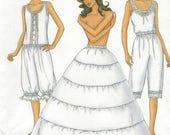 Womens Vintage Stil Leibchen, Hosen und Hoop Petticoat Butterick Schnittmuster 6884 Größe 12 14 16 Büste 34 36 38 FF Reenactors
