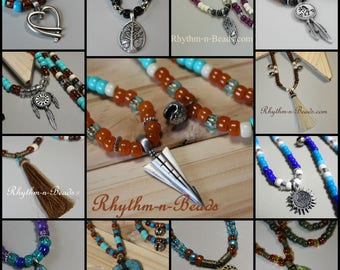 Pendants for your rhythm beads necklace, Horsehair tassels, Brass bells, Rhythm Beads, Horse Lovers, Parade Tack,  Rhythm Beads necklace