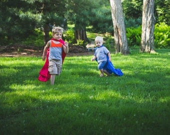Superhero Cape! // red or blue // kids pretend play