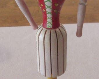 1950s Napkin Doll Swedish Sweden Smaland Lace Up Bodice