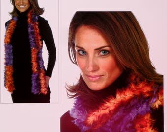 Knitting Pattern | Plymouth Yarn Design Studio | CHECKERBOARD SCARF | FOXY | Handknitting | Knit Scarf | Accessory