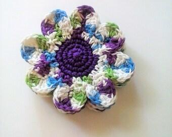 Daisy Coasters - Fruit Punch - Set of 4 Large Cotton Coasters
