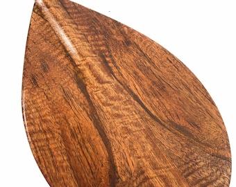 "Premium Deep Tone Outrigger Koa Paddle 36"" Trophy Decorative - Made In Hawaii | #koab36"