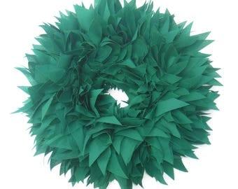 "Christmas Wreath, Green Wreath, Fabric Wreath, Rag Wreath, 16"" Wreath, Christmas Decor, Holiday Decor, Christmas"