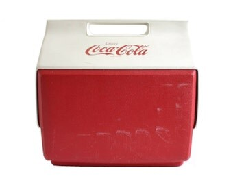 Igloo Playmate Cooler Side Button Vintage 1980s Coca Cola Ice Chest Plastic Coolers