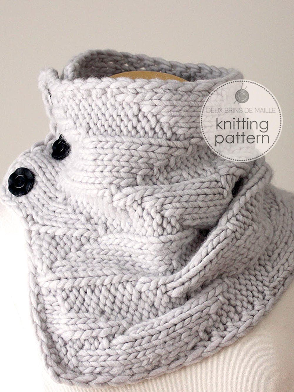 Knitting pattern cowl knitting pattern scarf knit cowl diy zoom bankloansurffo Choice Image