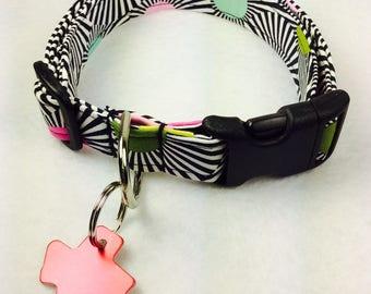 Kaleidoscope Dog Collar - Adjustable