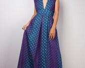 Sleeveless dress, Polka Dot Dress, Summer dress, Maxi Dress : Oriental Secrets Collection