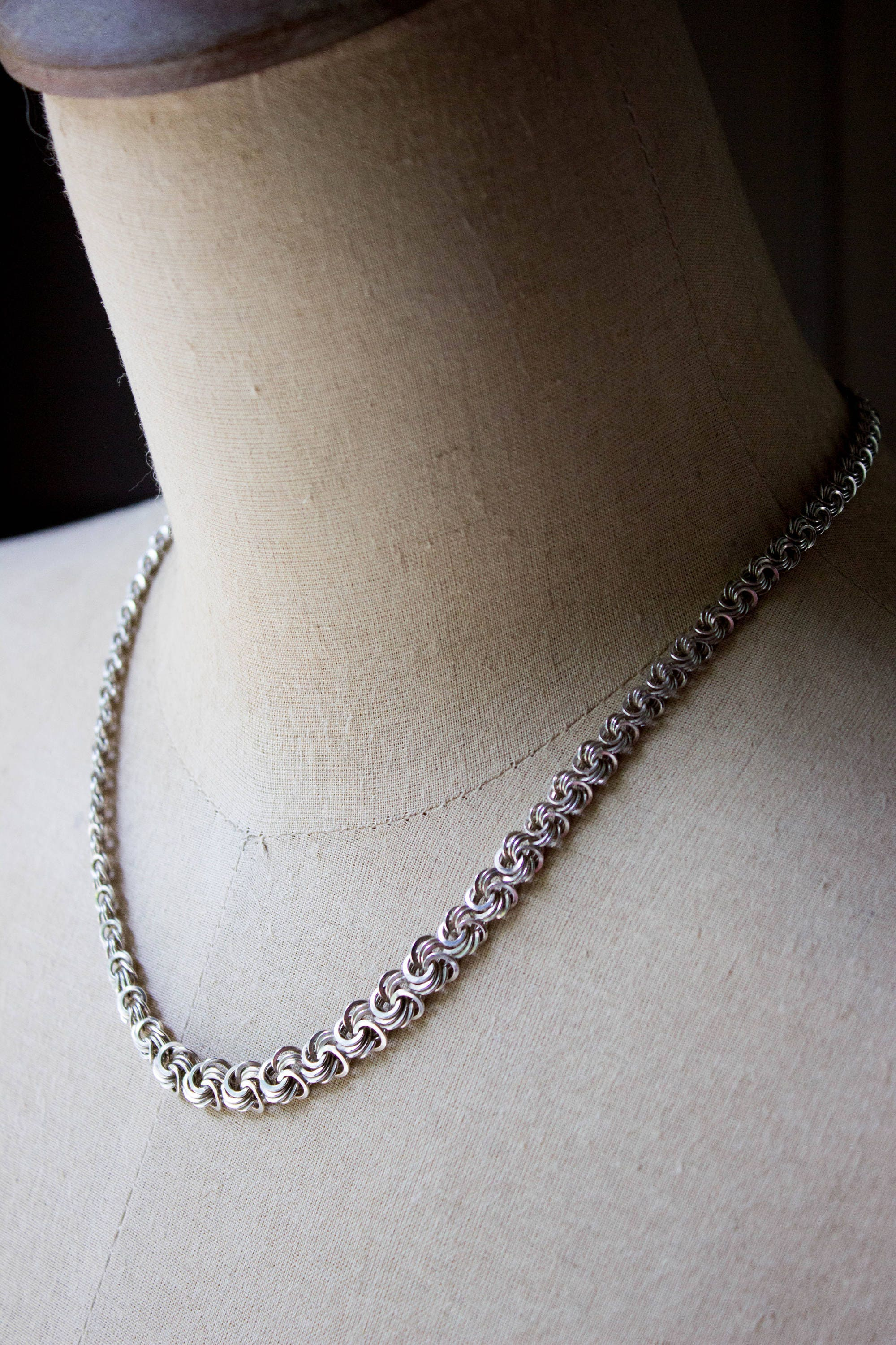 chains silver sterling chain fortunoff stores necklace jewelry popcorn long inches texture island