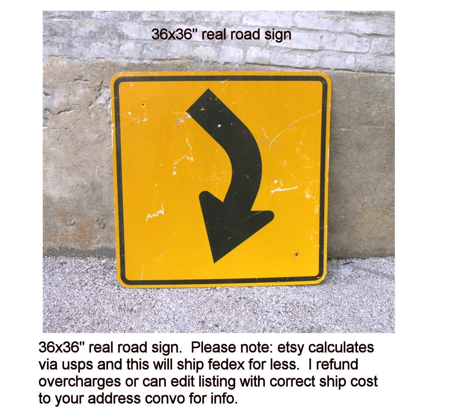 Large Arrow Road Sign Curve Ahead Warning Construction Industrial ...