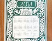 HALF PRICE Katharine Watson 2018 Letterpress Calendar