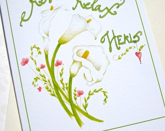 Calla Lily Get Well Card - Flower Get Well Card - Feel Better Card - Hospital Card - Recovery Card