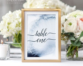 Reception Table Numbers - A Whistler Evening (Style 13760)