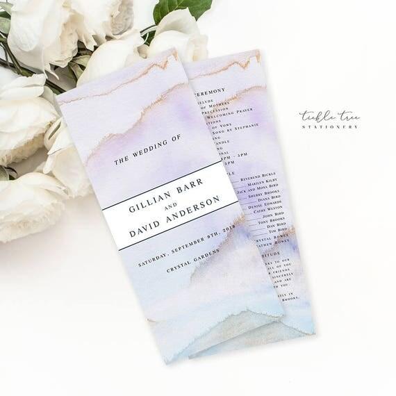 Semi Custom Wedding Stationery - Programs - Desert Sands (Style 13728)