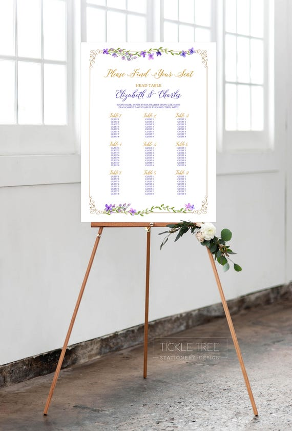 Seating Chart - Purple Garden (Style 13669)