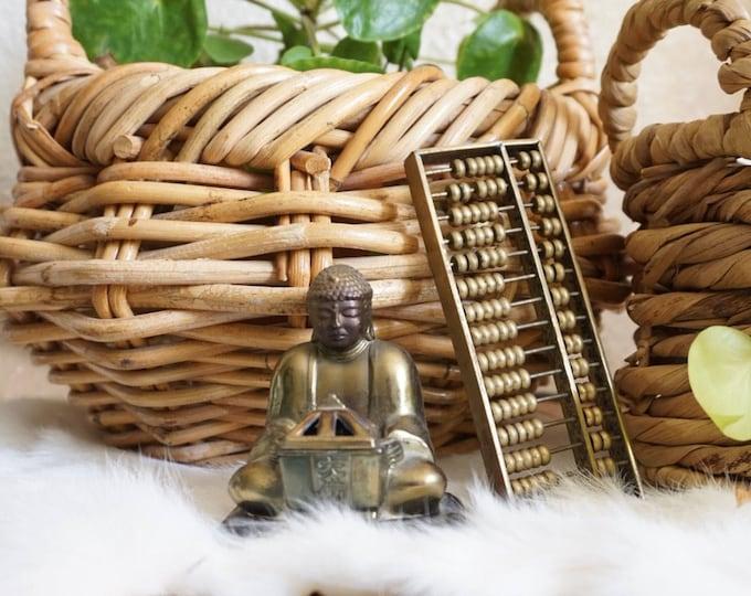 Small Gold Metal Brass Buddha Figurine