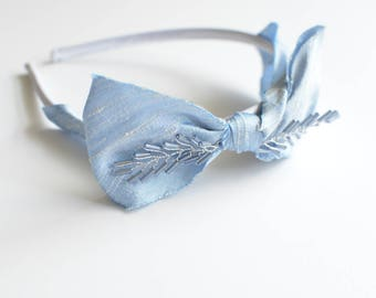 Dupioni Silk Beaded Headband