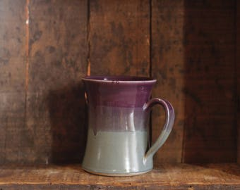 Mug in Purple & Peacock by Village Pottery Prince Edward Island PEI