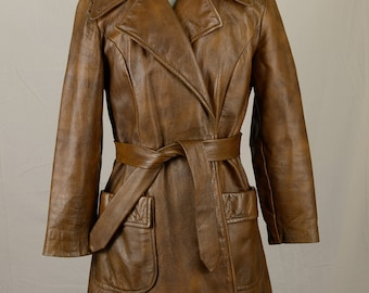 Vintage Wilsons Leather Brown Suede Coat with Belt and Pockets *SALE*