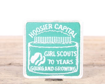 Vintage Scout Patch / 1980's Hoosier Capital 70 Years Anniversary Patch / Girl Scout Patch / Boy Scout Patch / Grunge Patch