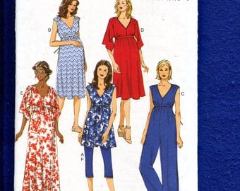 Butterick 6226 Maternity Dresses Jumpsuit & Leggings Size 6 to 14 UNCUT