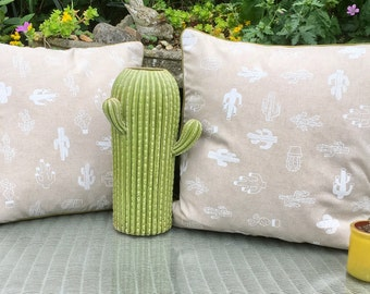 Cactus cushion. FREE UK P & P. Cacti scatter cushion. Pair available.