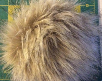 "Faux Fur PomPom 5"" diameter"