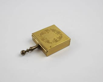 Vintage Brass Pocket Ashtray - Handheld Personal Ashtray - Brass Travel Size Personal Butler