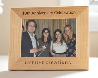 12 Custom Engraved Picture Frames with Logo: Custom Picture Frames Company Logo, Employee Gifts, Business Anniversary, Custom Logo Frames