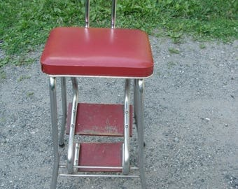 Adorable Red Folding Step Stool