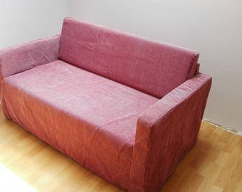 Slipcover for Solsta sofa-bed (from IKEA) , claret color, soft material, velvet touch