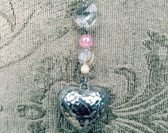 Valentine's Day Sun Catcher with Hearts & Crystals