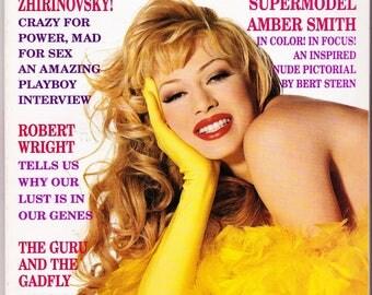 Vintage Playboy Magazine March 1995, Zhirinovsky, Robert Wright, Guru And, The Gadfly, Supermodel, Amber Smith, Power, Vintage Playboy