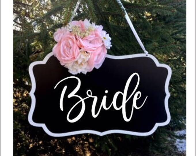 Bride Vinyl Decal for Wedding Rustic Barn Wedding Handwritten Bride Vinyl Decal DIY Lettering for Chalkboard Wedding Decor
