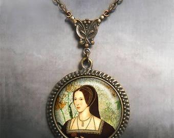 Anne Boleyn necklace, Anne Boleyn jewelry, Tudor Rose necklace Tudor necklace Tudor jewelry Tudor necklace Queen of England