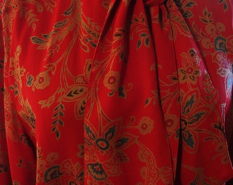 Vintage 1990s Red Liz Sport Blouse and Skirt Set Dress