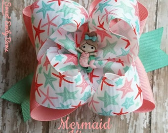 Mermaid Kisses stacked bow