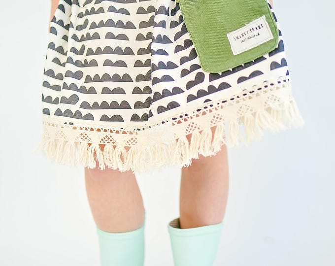 "Swanky Shank Girls ""Happy Cloudy Days' Pocket Skirt"
