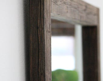 Reclaimed Wood, Large Wall Mirror, Wall Mirror, Rustic Mirror, Farmhouse  Decor,