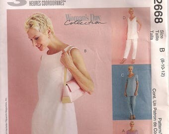 McCall's Sewing Pattern 2668 - Misses' Tunic and Pants in Two Lengths (8-12)