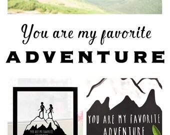 Gift for Travellers, Wedding Travel Gift, Adventure Gifts, Art for Travelers, Hiker Gift, Gift for Travel Lover, Gift for Traveling Couple