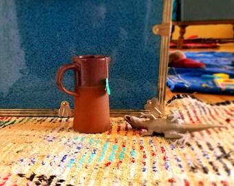 coffee mug, plum glaze, red stoneware, unique mug, wheel thrown pottery, stein, Ceramic mug