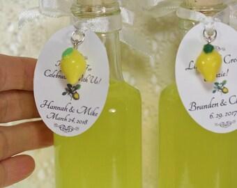 100  Limoncello Bottles 3.5oz Limoncello Favors Limoncello Tags Lemon Charms 3.5oz 100ml Limoncello Bottles Empty Bottle Clear Glass Bottle
