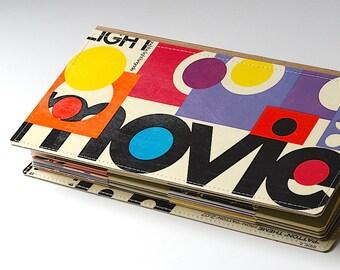 52 DVD Holder Book, DVD Wallet, DVD Storage Case Handmade from Upcycled Album Cover, Cd Case, Cd Wallet, Cd Dvd Album, Film Lover Gift