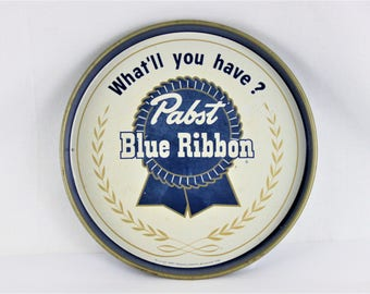 Vintage 1950s Pabst Blue Ribbon Beer Tray