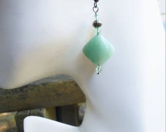 Aventurine earrings, green earrings, aventurine jewelry, gift for her, mint green earrings, green stone jewelry, birthday gift, light green